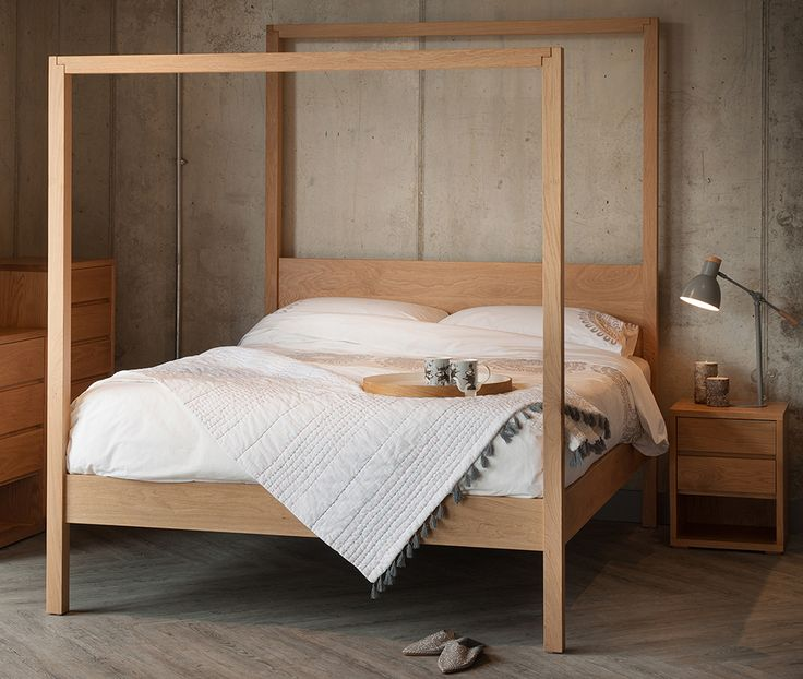 Solid Oak Oasis 4 Poster From Natural Bed Company Wooden Furniturebedroom