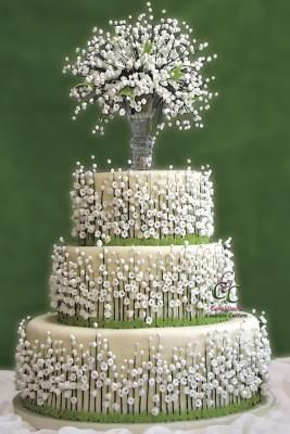 Details for Lily of the Valley cake.
