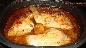 Tajine poulet,abricots