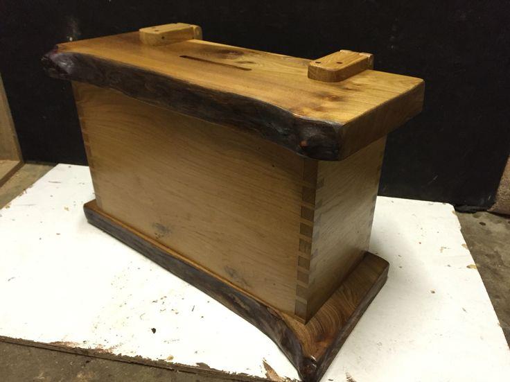 Oak & elm wedding box for envelopes