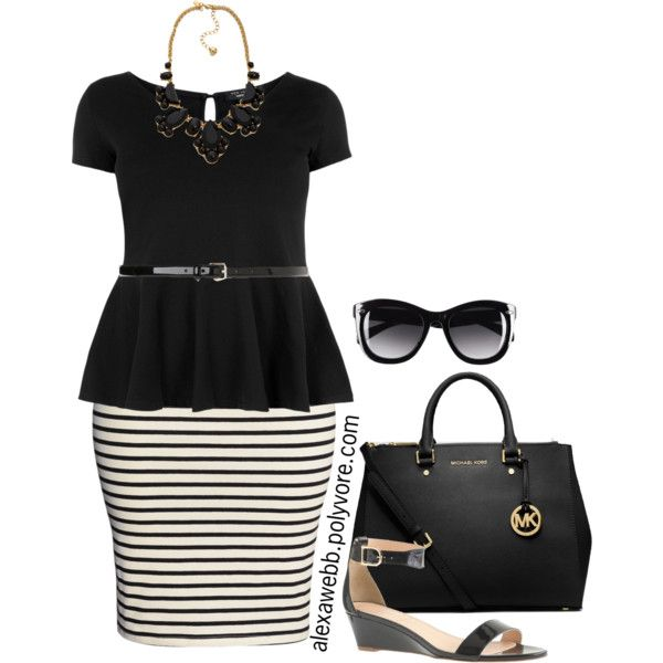 """#plus #size #outfit  """"Plus Size - Peplum"""" by alexawebb on Polyvore"""