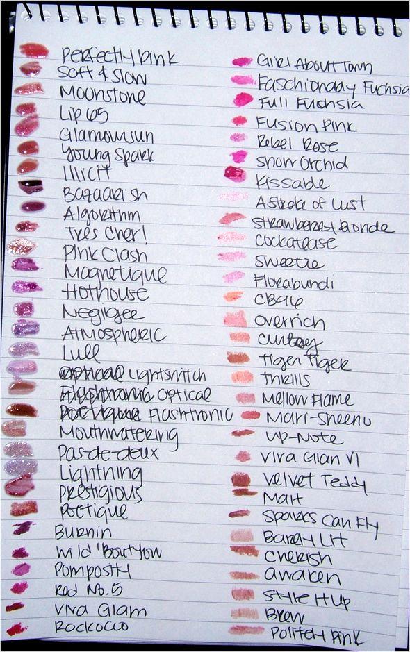 MAC Cosmetics - Lipstick Swatches