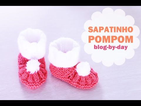 Blog By Day: Sapatinho PomPom :: Passo a Passo