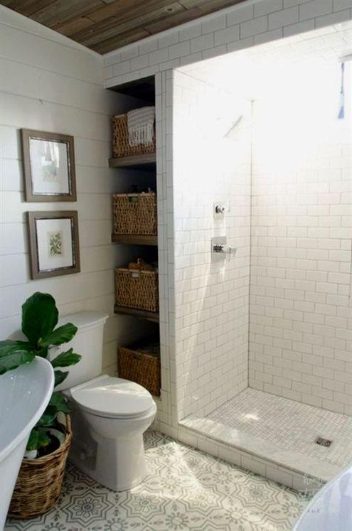 Modern Farmhouse Bathroom Remodel Ideas (26) #smallBathrooms casa