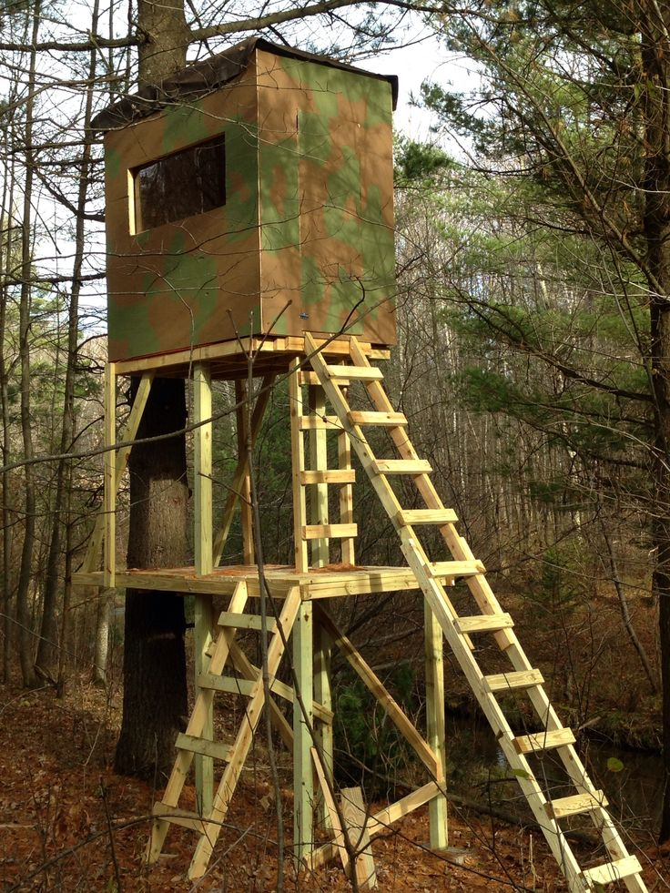 307 best hunting huts images on pinterest for Deer ground blind plans