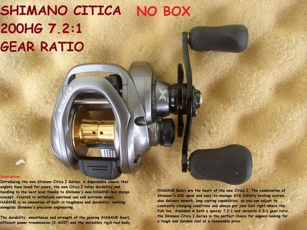 SHIMANO CITICA 200HG 7.2:1 GEAR RATIO NEW NO PACKAGING