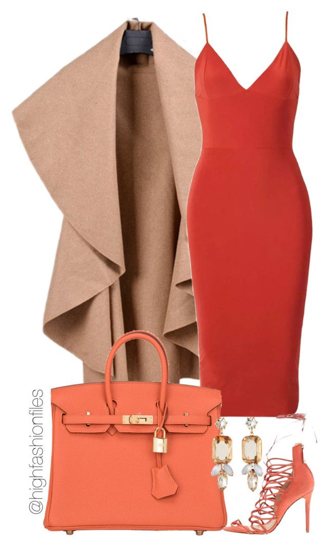 """Untitled #1893"" by highfashionfiles ❤ liked on Polyvore featuring moda, Hermès, Schutz y R.J. Graziano"