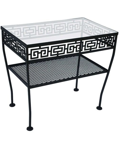 Wrought Iron Patio Side Table Will Add Elegance To Your Outdoor Space.