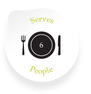 Serves: 6 people