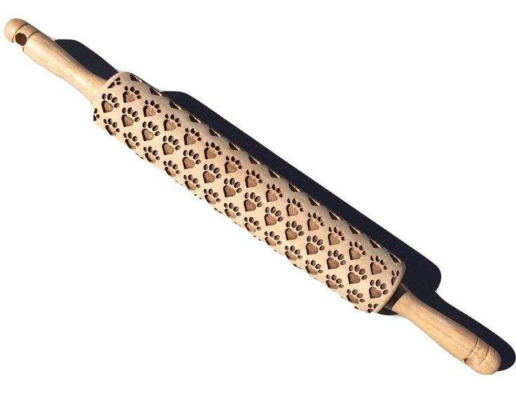 Devoted Human Heart Paw Print Rolling Pin