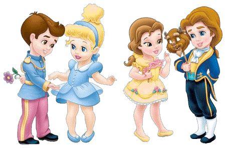 Baby Disney Princesses. I had not seen the princes how cute