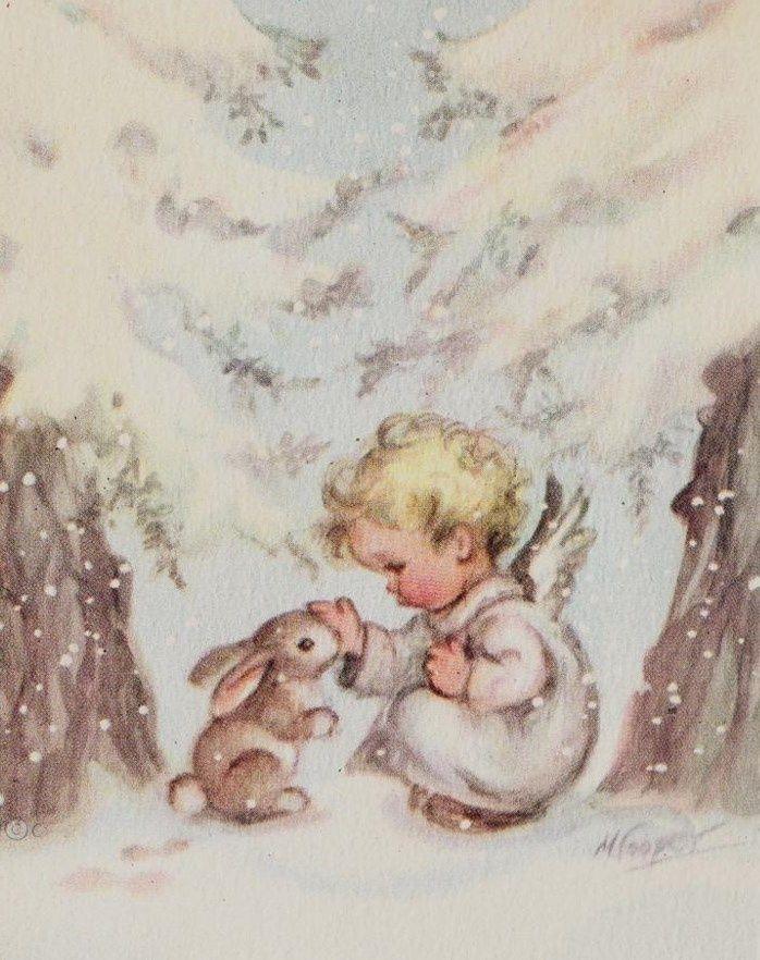 vintage christmas angel cards | Vintage Christmas Card | I ♥ Vintage: Christmas - Angels, Choirs ...