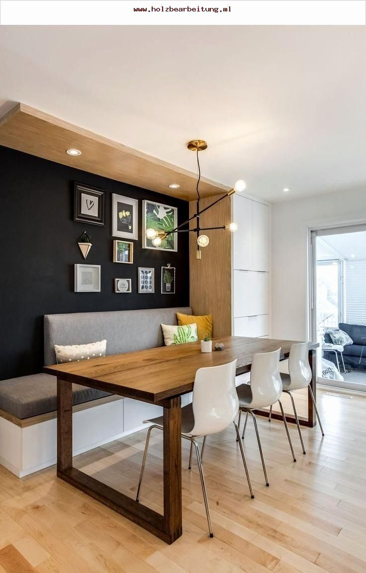 Built In Dining Room Bench Awesome A Cool Transitional Mid Century Modern Dining Area With In 2020 Dining Room Bench Dining Room Design Kitchen Seating