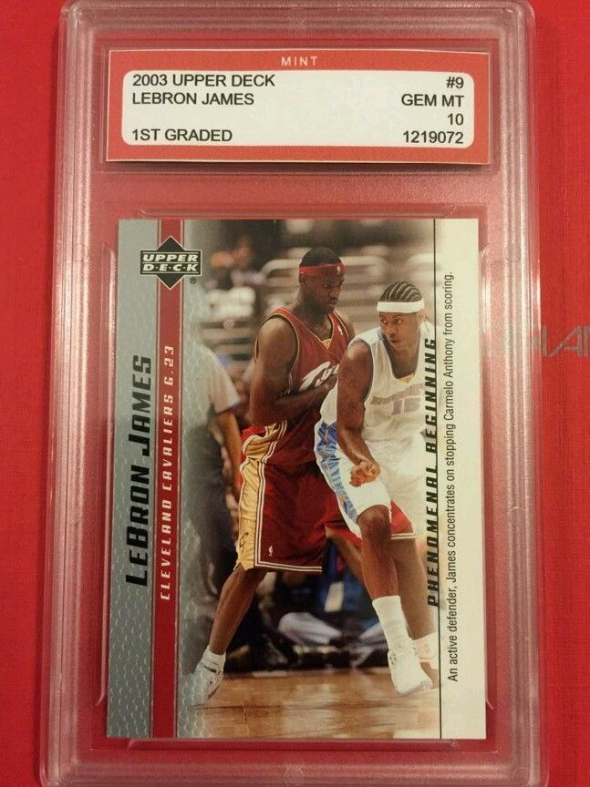 2003-2004 Upper Deck #9 Lebron James Rookie Card Graded 10 from $3.99