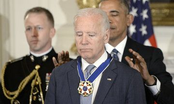 """Obama Awards Biden With Presidential Medal Of Freedom In Surprise White House Tribute He called Biden """"the best vice president America has ever had."""""""