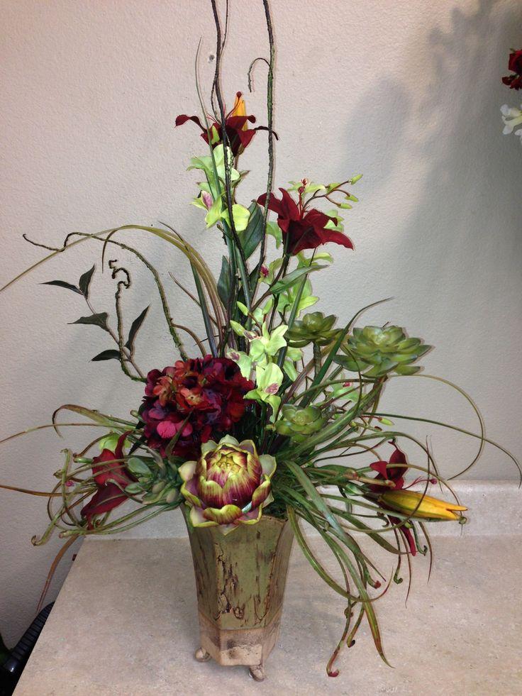 197 Best Silk Flower Arrangements Images On Pinterest Flower Arrangements Floral Arrangements
