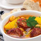 Ossenstaartsoep met chorizo, aardappel en kikkererwten - recept - okoko recepten
