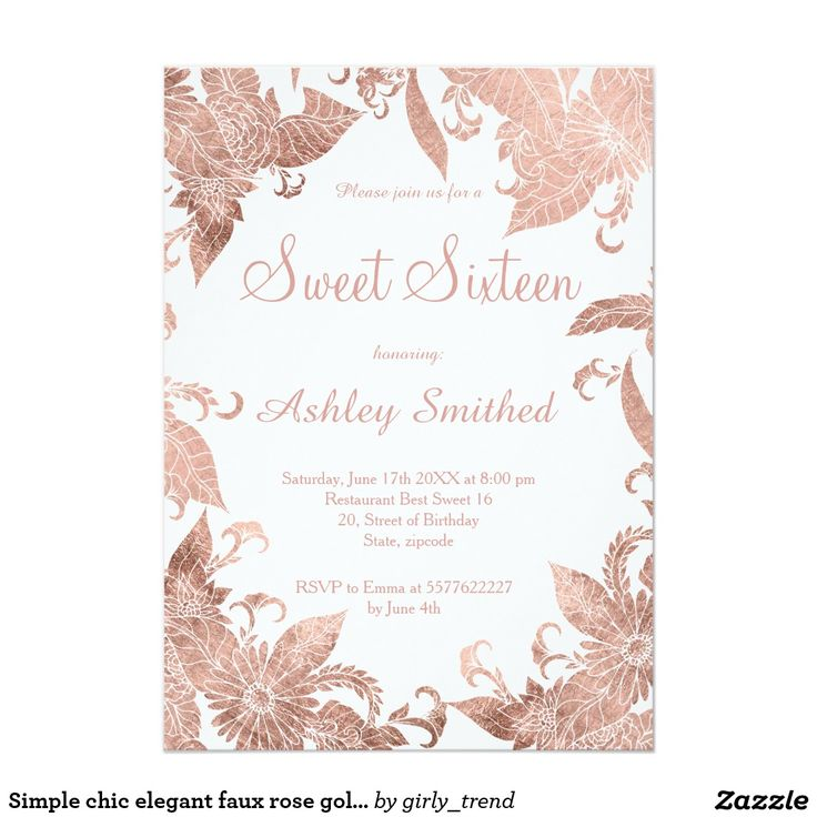 1000 Images About Sweet Sixteen Birthday Invitations On