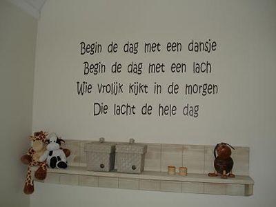 Spreuken op de muur in de slaapkamer #kinderkamer  Texts for the wall ...