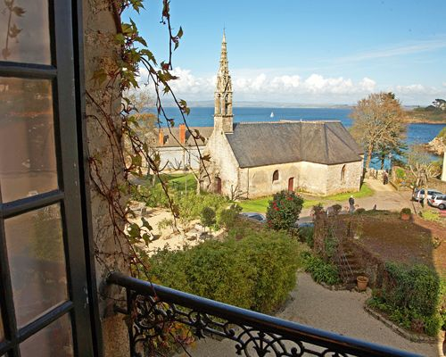 The delightful sea views and 5 min walk to the beach at Hotel Ty Mad in #Brittany #France