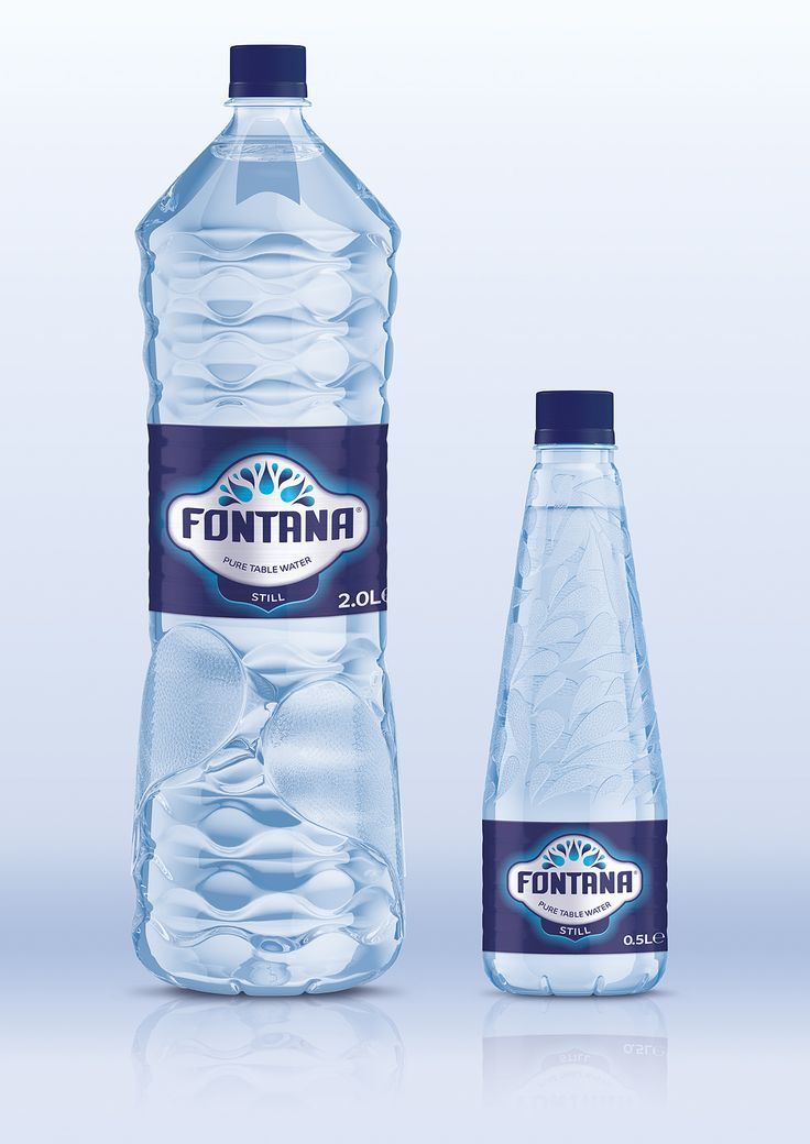 fontana pure table water on behance packaging water