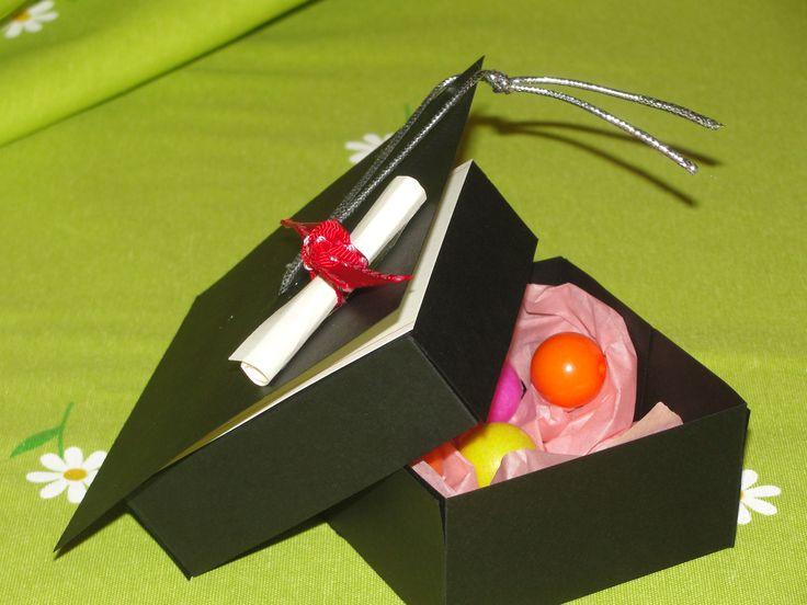 Caja/tarjeta de recuerdo por graduación | Andrea's Detalles ...