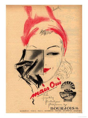 Bourjois, Mais Oui Womens, USA, 1940 Art Print