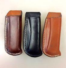 Custom Leather Sheath/Case Buck Knife 110 or 112 Open Top Belt Carry New