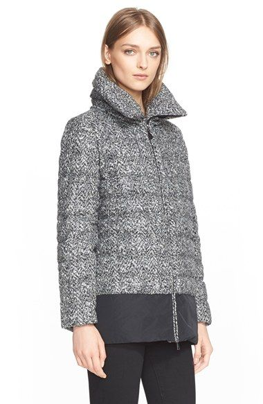 Moncler 'Dauphin' Water Resistant Tweed Down Puffer Coat available at #Nordstrom