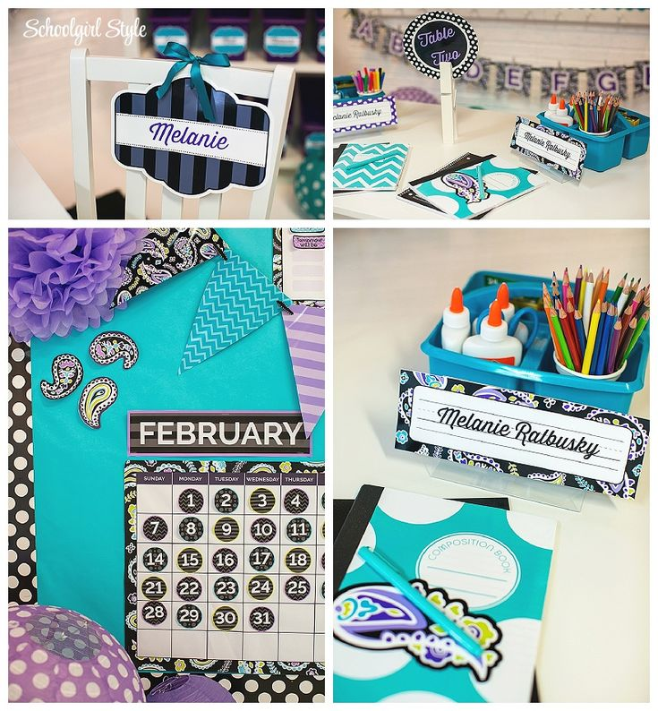 Turquoise And Purple Clroom