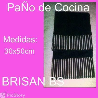 Paños de cocina combinacion en negro