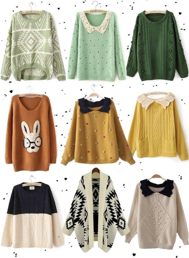 SheInside, cozy sweaters, geometric cardigan, bunny sweater, winter sweaters