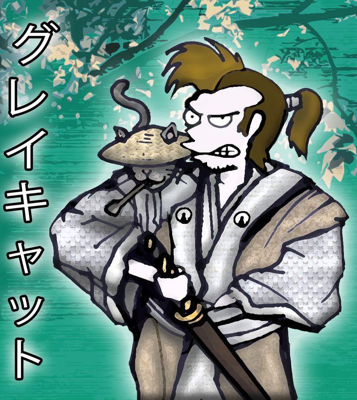 Miciosegone Games Dev Blog: GreyCat il Samurai