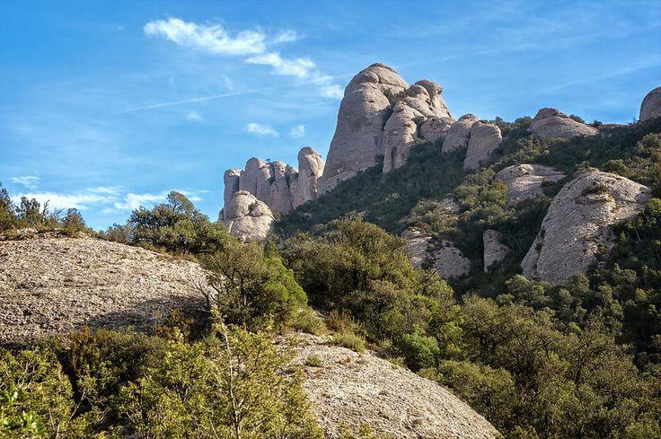 Rock Formations Montserrat Spain II by Joan Carroll