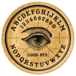 Vintage fortune telling psychic eye Ouija plate