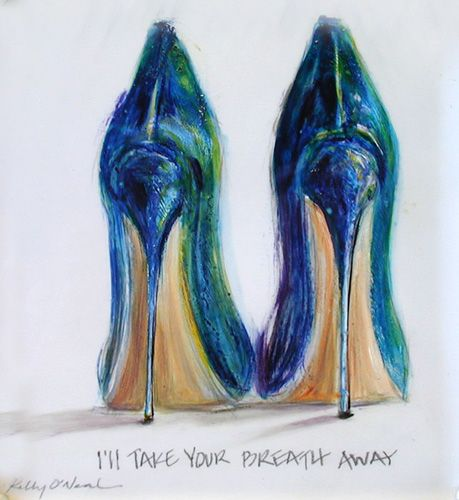 Shoe Paintings! Glamorous Art by Kelly O'Neal inspirations design art