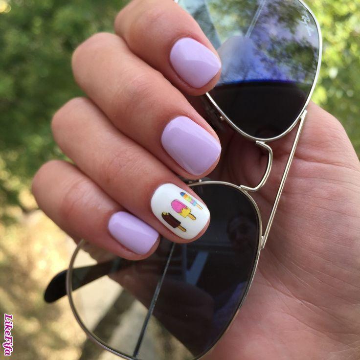 #летний_маникюр, #эскимо_дизайн, #красивые_ногти