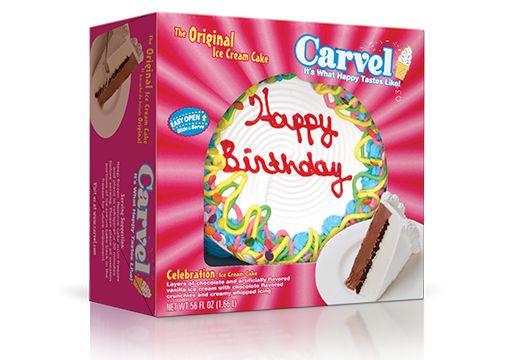 8″ Round Ice Cream Cake – Confetti Happy Birthday   I Love Ice Cream Cakes Carvel® - available at Publix