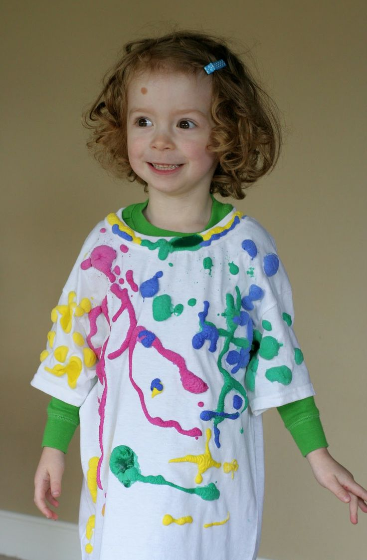 Puffy Paint Shirt and links to other arts and crafts | FUN AT HOME WITH KIDS