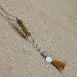 Calma y Alivio con Collar Amuleto Cuarzo Transparente