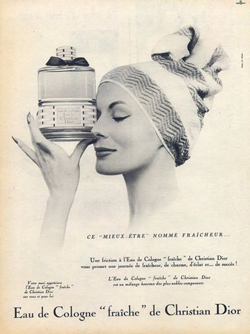 Christian Dior (Perfumes) 1958 Eau de Cologne, Photo J.P Ronzel Vintage advert Perfumes | Hprints.com