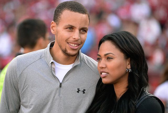 Stephen Curry with his wife Ayesha Alexander....