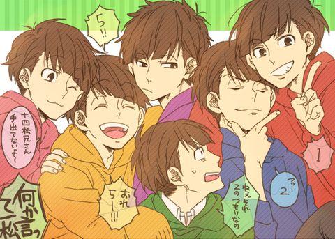 Osomatsu, Karamatsu, Choromatsu, Ichimatsu, Jyushimatsu & Todomatsu   Osomatsu-san