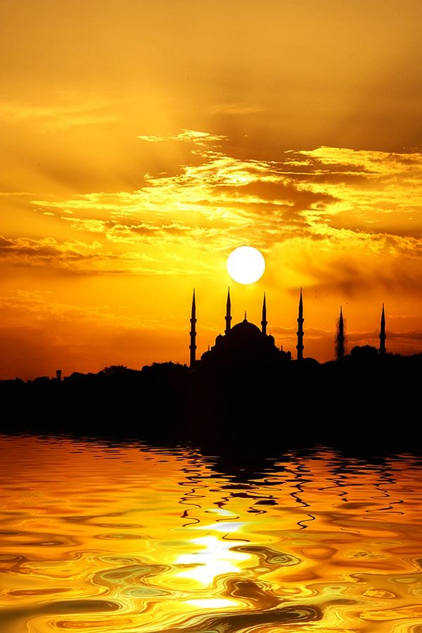 Guzide Istanbul Turkey at sunset