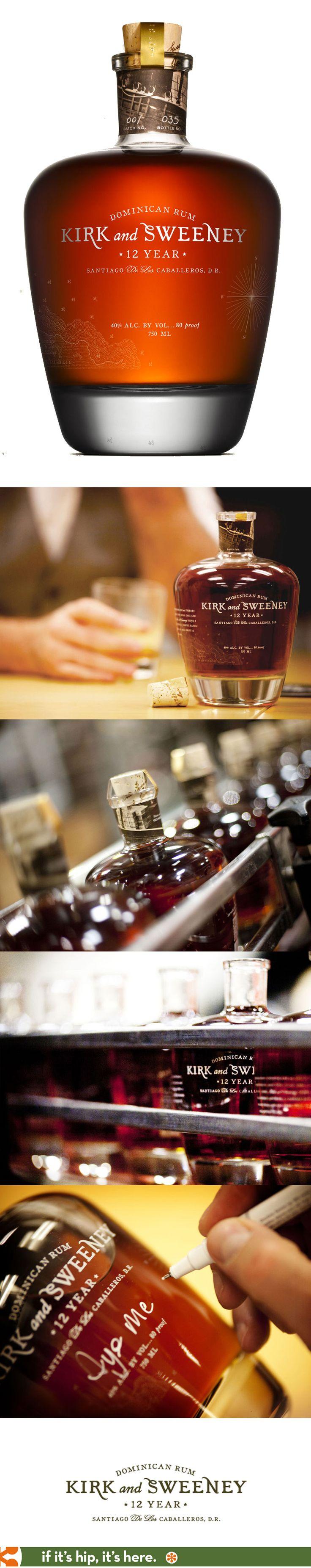 Kirk & Sweeney 12 year Dominican Rum Bottle