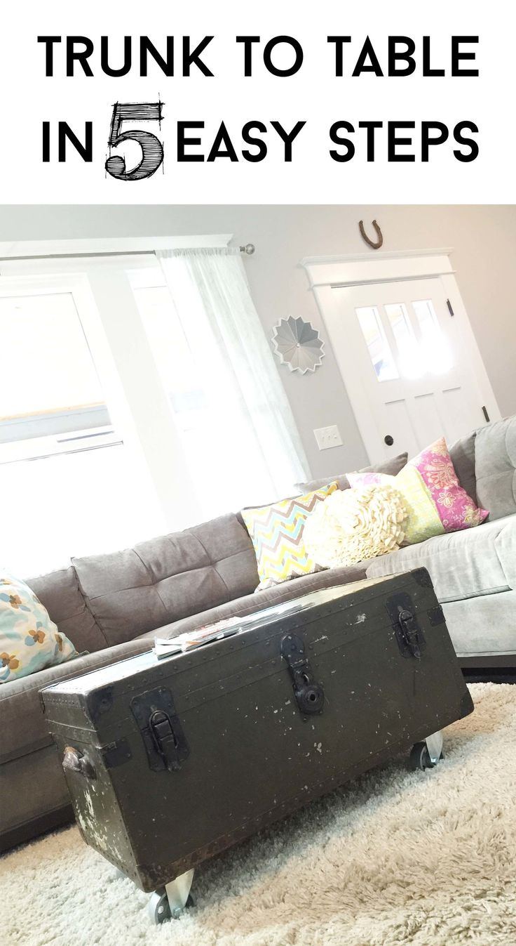 Turn a Military Foot Locker/Trunk into an Industrial Coffee Table — TFD Style