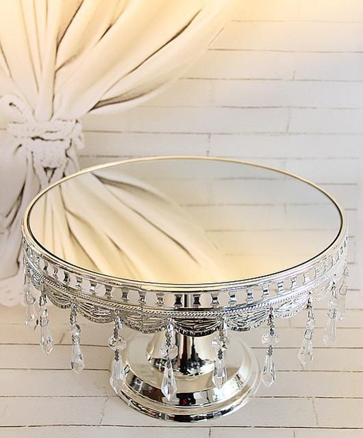 Free shipping high-grade silver cake stand/ fruit plate decoration wedding wedding gift Home Furnishing / snack tray
