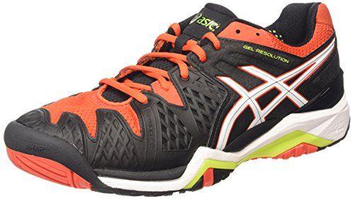 ASICS Gel-resolution 6, Chaussures de Tennis homme – Noir (black/white/orange 9001), 44.5 EU