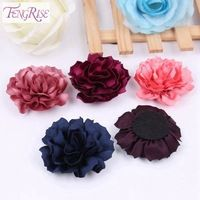 FENGRISE Felt Patches 10 pcs Fabric Artificial Flowers Sewing Accessories Apparel Hair Bow Supplies Tutu Decoration Crafts Pads