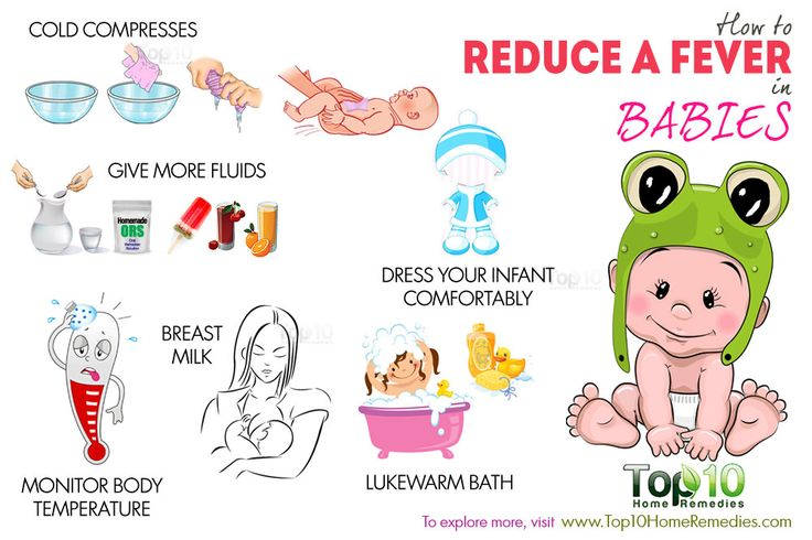 how to reduce fever in babies | Baby fever remedies Baby ...
